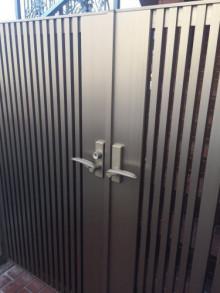 デジタルロック(キーレックス)の鍵を取付(オートロック・自動施錠)