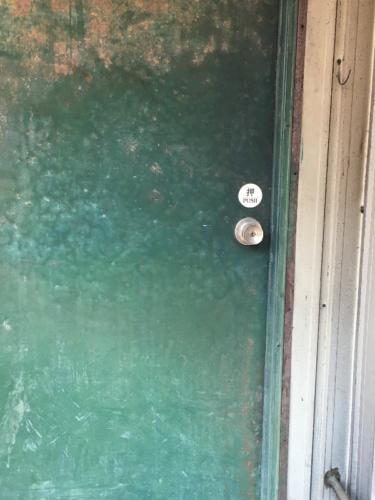 デジタルロック(キーレックス)の鍵を出入り口へ取付